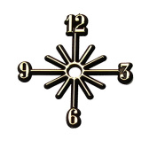 Clock Numeral Set With Mounting Hole and Adhesive Back