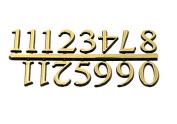 Clock Numerals Are 1.9cm With a Pressure Sensitive Adhesive Back