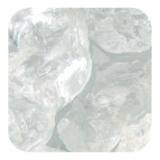 Sandtastik Preschool Kids Children Craft Coloured ICE Real Glass Gems, Scatters 1.5 Pint (0.9kg) 3.8cm - 5.1cm - Clear Cubes
