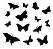 Little Flutter Bys Pattern Stencil - 12