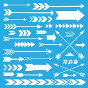 Americana Decor Stencil 30cm x 30cm -Array Of Arrows