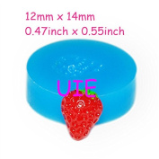 17kg Cute Half Strawberry Mould Silicone Mould for Fondant 14mm - Bakeware Polymer Clay Sugarcraft Cake Decorating Moulds