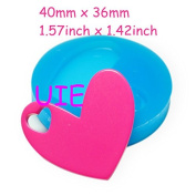 225LBP Double Heart Moulds Heart in Heart Mould Heart Charms Mould Silicone Flexible Mould 40mm - Polymer Clay Sugarcraft Moulds