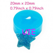 224LBP Star Mould Silicone Flexible Mould 20mm - Polymer Clay Sugarcraft Cake Decorating Charms Moulds, Jewellery Mould Food Safe