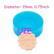 224LBQ Round Cookie Mould Round Biscuit Mould 19mm - Cake Decorations Candle Charms Sugarcraft Moulds, Fimo Mould Bakery Mould
