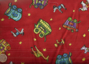 Circus of the Moon Red Rooster fabric