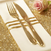 Ginger Ray Gold Sequin Ribbon Gift Wrapping Wedding - Pastel Perfection