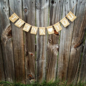 Burlap 'Thank You' Banner for Rustic Baby Showers or Shabby Chic Events