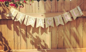 Burlap 'It's a Girl!' Banner for a Shabby Chic Baby Shower or Event
