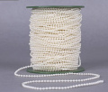 Joinwin® 50M 1 Roll 3mm Cream Pearls Bead Garland Chain Wedding Decoration Centre Candle Crafting DIY Favour