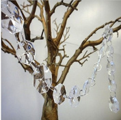 Worldoor® 5 Pieces Diamond Hanging Crystal Garland Wedding Strand - 50cm Length Each Strand/ New Acrylic Crystal Garland Strand Chain Hanging Diamond Bead Decor Wedding Home decor