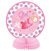 It's a Girl Baby Shower Pink Clothesline Mini Honeycomb Decorations