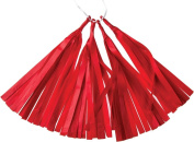 Red 30cm Paper Tassels - Set of 4