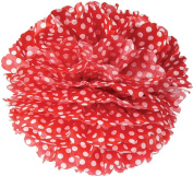 Red Polka Dot 38cm Tissue Paper Flower Pom-Pom