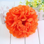 Worldoor® New Coming 12PCS Mixed Sizes Orange Party Tissue Paper Flower Pom Poms Pompoms Wedding Birthday Bridal Shower Party Favour Decoration