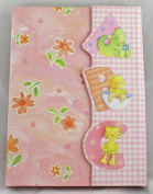 CR Gibson Cathy Heck Studios Pink Floral ABC Baby Brag Book Photo Album