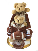 Touchdown Teddy Nappy Cake - Baby Bearington Gift