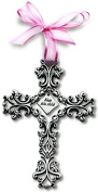 N 1721PK 13cm CROSS-BLESS THIS CHILD-PINK
