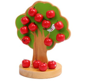Baby Blocks- Magnetic Apple Tree Wooden Blocks, Red and Green