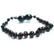Certified Natural Batlic Amber Baby Teething Bracelet - Cherry Baroque - *SCREW CLASP* *SAFETY KNOTTED*