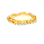 Certified Baltic Amber Bracelet   Safety Knotted for Child - CHAMPAGNE BAROQUE