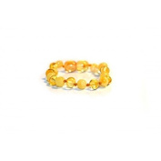 Certified Baltic Amber Bracelet | Safety Knotted for Child - BUTTER/LEMON BAROQUE