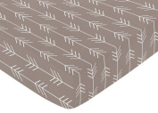 Fitted Crib Sheet for Outdoor Adventure Baby/Toddler Bedding - Arrow Print