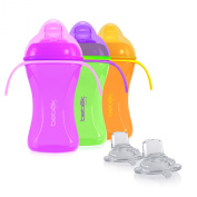 Bebek Soft and Flexible Spout w/Handles Cup + extra Spouts Combo (set of 3)