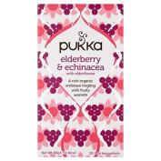 Pukka Herbs Elderberry & Echinacea with Elderflower 20 per pack by Pukka Teas