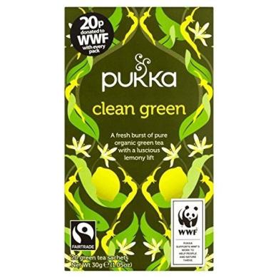 Pukka Herbs Clean Green Tea 20 per pack by Pukka Teas