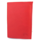 Leather wallet 'Frandi'wild red (european).