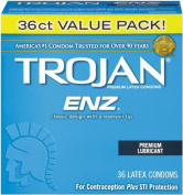 Trojan-Enz Lubricated Condom, 36 Count