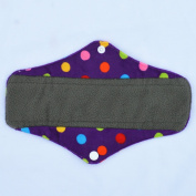 25cm Regular Charcoal Bamboo Mama Cloth/ Menstrual Pads/ Reusable Sanitary Pads