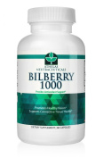 Bilberry Extract 1000mg - Eye Support - Supports Healthy Circulation - Helps With Red Eyes, Irritation - Top Quality Bilberry Powder Capsules