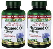 Nature's Bounty Natural Cold Pressed Flaxseed Oil, 1200mg, 250 Softgels