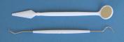 Dental Power 2pc Dental Hygiene Kit Mirror & Double End Pick/scaler/probe, Oral Hygiene Teeth