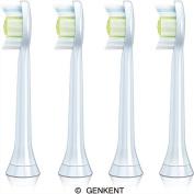 Genkent Generic Replacement Philips Sonicare HX6062/64 Diamondclean Replacement Brush Heads, Standard