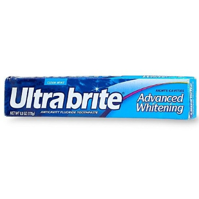 Ultra Brite All-in-One Anticavity Fluoride Toothpaste (CLEAN MINT, 6 TUBES OF 180ml)