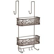 InterDesign Vine Over Door Shower Caddy – Bathroom Storage Shelves for Shampoo, Conditioner and Soap, Bronze