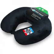 World's Best Feather Soft Microfiber Neck Pillow, Don't Mess with Texas, Black