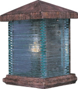Maxim Lighting 48732CLET One Light Earth Tone Clear Glass Outdoor Wall Light, Copper