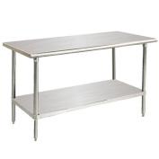 Advance Tabco 14-Gauge Stainless Steel Top - Flat Top w/ Undershelf - Model SS-302