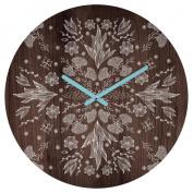 DENY Designs - Iveta Abolina - White Floral Round Clock