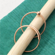 Nose Rings, 12mm, ROSE gold over Sterling Silver, Set of TWO, captive bead and plain hoop, lip,eyebrow,body piercing