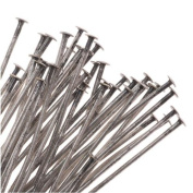 Antiqued Silver Plated Head Pins 5.1cm Long/22 Gauge