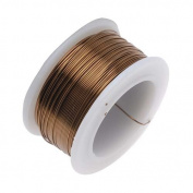 Beadsmith Antique Brass Colour Copper Craft Wire 26 Gauge - 30 Yards