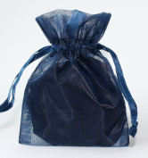 100pcs Navy Blue 5X7 Organza Drawstring Pouches Jewellery Party Wedding Favour Gift Bags