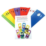 Creation Station Class Craft Foam Door Hangers with Ideas Leaflet, Pack of 30, 6 Assorted Colours