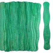 100 Green Wavy Jumbo Wood Fan Handles Wedding Fan Sticks