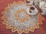 Vintage Crochet PATTERN to make - Pineapple Doily Mat Centrepiece. NOT a finished item. This is a pattern and/or instructions to make the item only.